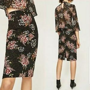 NWT  - Zara Lace Pencil Skirt